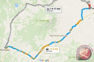 Arus balik jalur tengah Temanggung-Wonosobo tersendat