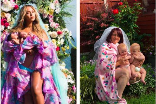 Ibu Irlandia Buat Parodi Kocak Foto Beyonce Dan Si Kembar