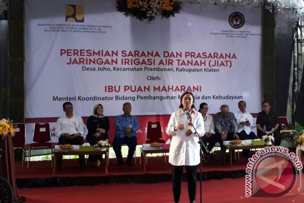 Menko PMK resmikan jaringan irigasi di Prambanan