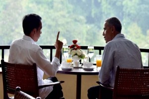 Obama santap habis bakso yang dihidangkan di Bogor