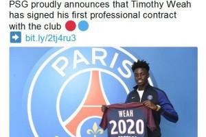 Putra George Weah teken kontrak dengan PSG