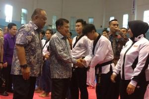 Wapres Jusuf Kalla optimistis taekwondo-voli raih emas SEA Games