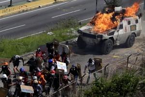 Unjuk rasa oposisi Venezuela renggut dua korban jiwa
