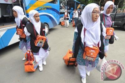 Jamaah kloter terakhir Embarkasi Medan gabung Aceh