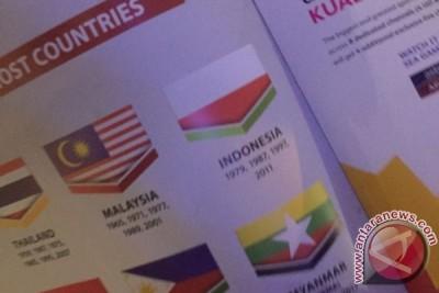 SEA Games 2017 - Bendera Indonesia dicetak terbalik di buku panduan