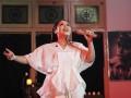 "Penyanyi Gita Gutawa tampil saat peluncuran album terbarunya yang bertajuk Gita Puja Indonesia, di Galeri Foto Jurnalistik Antara, Jakarta, Jumat (11/8/2017). Album Gita Puja Indonesia bermaterikan satu ""single"" terbaru berjudul Puja Indonesia, dan sejumlah lagu wajib nasional di antaranya Tanah Tumpah Darahku, Tanah Air dan Syukur. (ANTARA/Muhammad Adimaja)"