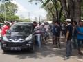 Unjuk Rasa Sopir Angkot Palembang