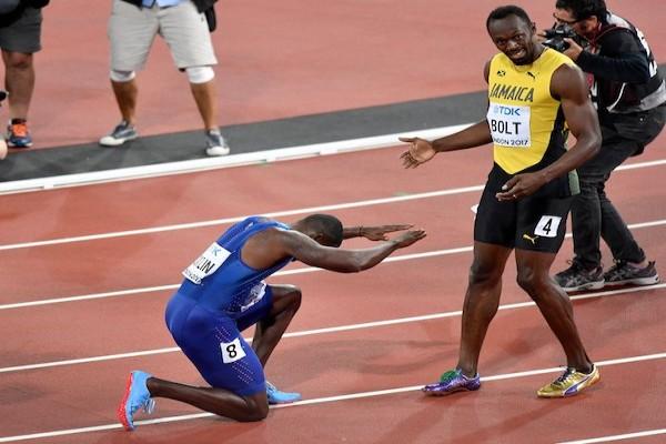 Perpisahan Bolt diwarnai cedera di final 4x100 meter