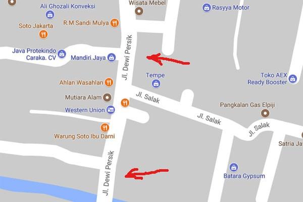 Jalan Dewi Sartika menjadi Dewi Persik, Bekasi minta klarifikasi Google