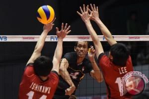 Tim voli Jepang pertahankan gelar juara Asia