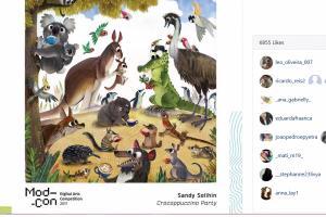 Ilustrator Bandung sabet juara ModCon Digital Arts Competition