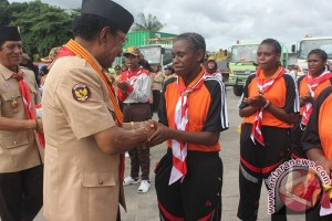 Keberangkatan Pramuka Papua Barat