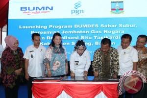 PGN bangun jembatan dan BUMDes di Serang Rp 3,4 Miliar