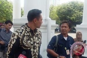 Agus Yudhoyono menghadap Presiden Jokowi di Istana