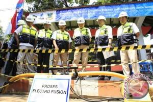 Menteri ESDM groundbreaking proyek 5.000 jargas rumah tangga di Mojokerto