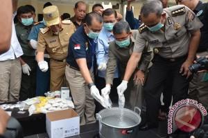 Pemusnahan Narkotika Polda NTT