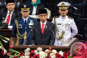 Presiden Jokowi nyatakan jumlah penduduk miskin semakin menurun