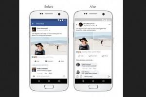 Facebook desain ulang tampilan dalam aplikasi