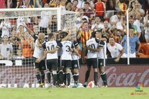 Valencia awali musim atasi 10 pemain Las Palmas 1-0