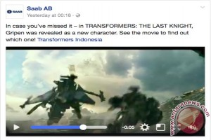 Pesawat JAS39 Gripen muncul di Transformer: The Last Knight