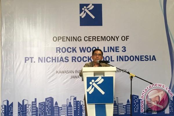 Lini produksi ketiga PT Nichias Rockwool Indonesia mulai beroperasi