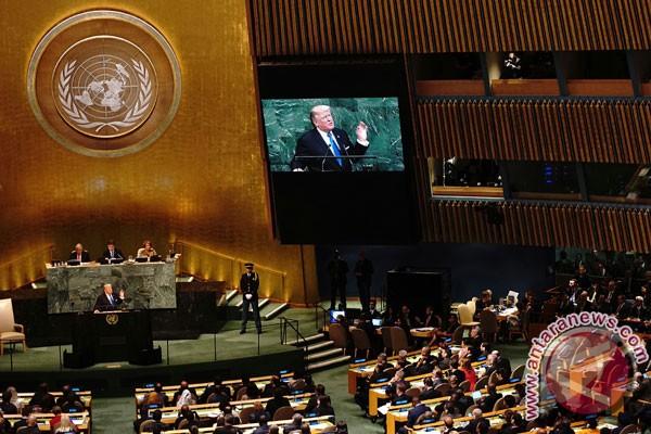 Pertama kali pidato di PBB, Trump akan semprot Iran dan Korut