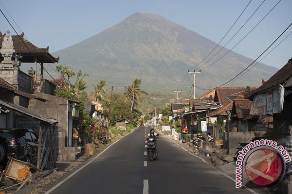 Volcanic activities of Mt Agung slowing down