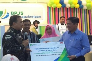 BPJS-TK serahkan klaim JHT Presdir Sampoerna Agro