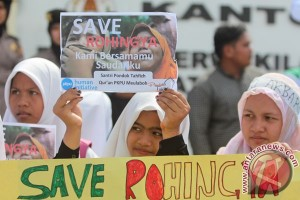 Pelajar SMP Jambi 19 kirim doa untuk Rohingya