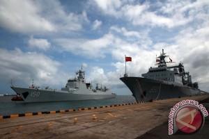 Tiga kapal perang China tiba di Jakarta