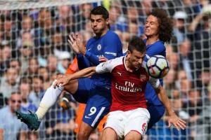 Chelsea ditahan Arsenal 0-0, David Luiz dikartu merah