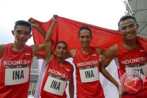 Emas Lari 4X100 Meter Putra