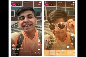Filter wajah Instagram hadir di siaran langsung