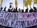 Demo Tiga Tahun Pemerintahan Jokowi-JK