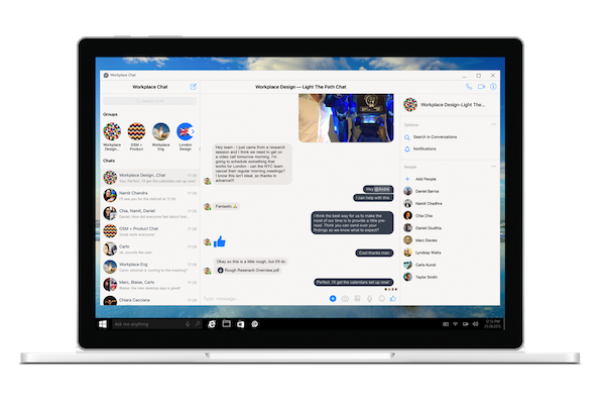 Facebook Luncurkan Aplikasi Workplace Chat