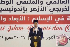Jokowi Tutup Konferensi Alumni Al Azhar
