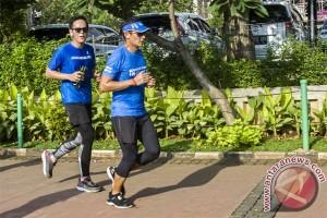 Sandiaga Uno lari 8 km dari rumah ke Balaikota