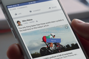 Facebook tes langganan Artikel Instan di Android