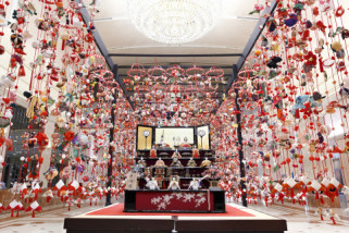 Sambut Hina-matsuri, Keio Plaza Hotel gelar pameran boneka anak perempuan tradisional Jepang