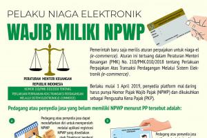 Pelaku niaga elektronik wajib milik NPWP
