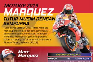 MotoGP 2019 Marquez tutup musim dengan sempurna