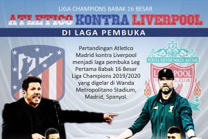 Atletico Madrid kontra Liverpool buka babak 16 besar Liga Champions