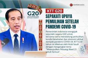 KTT G20 sepakati upaya pemulihan setelah pandemi COVID-19