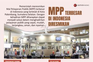 Mal pelayanan publik terbesar di Indonesia diresmikan