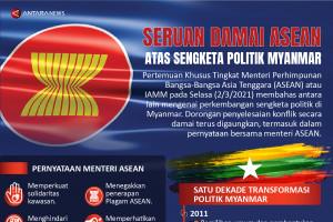 Seruan damai ASEAN atas sengketa politik Myanmar