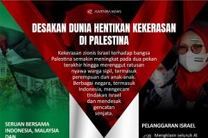 Desakan dunia hentikan kekerasan di Palestina