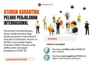Aturan karantina bagi pelaku perjalanan internasional