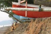 Abrasi, Gelombang Pasang Ancam Pulau Kerayaan Kecil Kotabaru