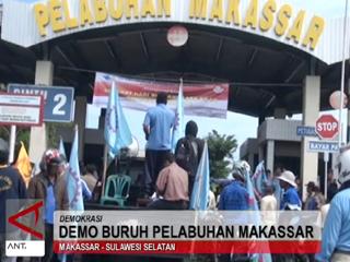 Demo Buruh Pelabuhan Makassar