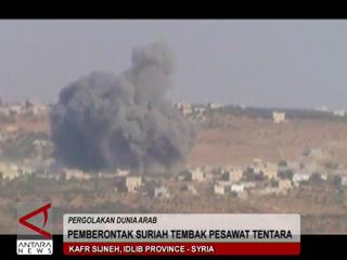 Pemberontak Suriah Tembak Pesawat Tentara